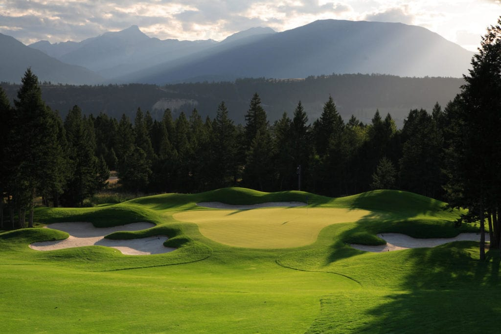 B.C. golf course looking out onto the valley